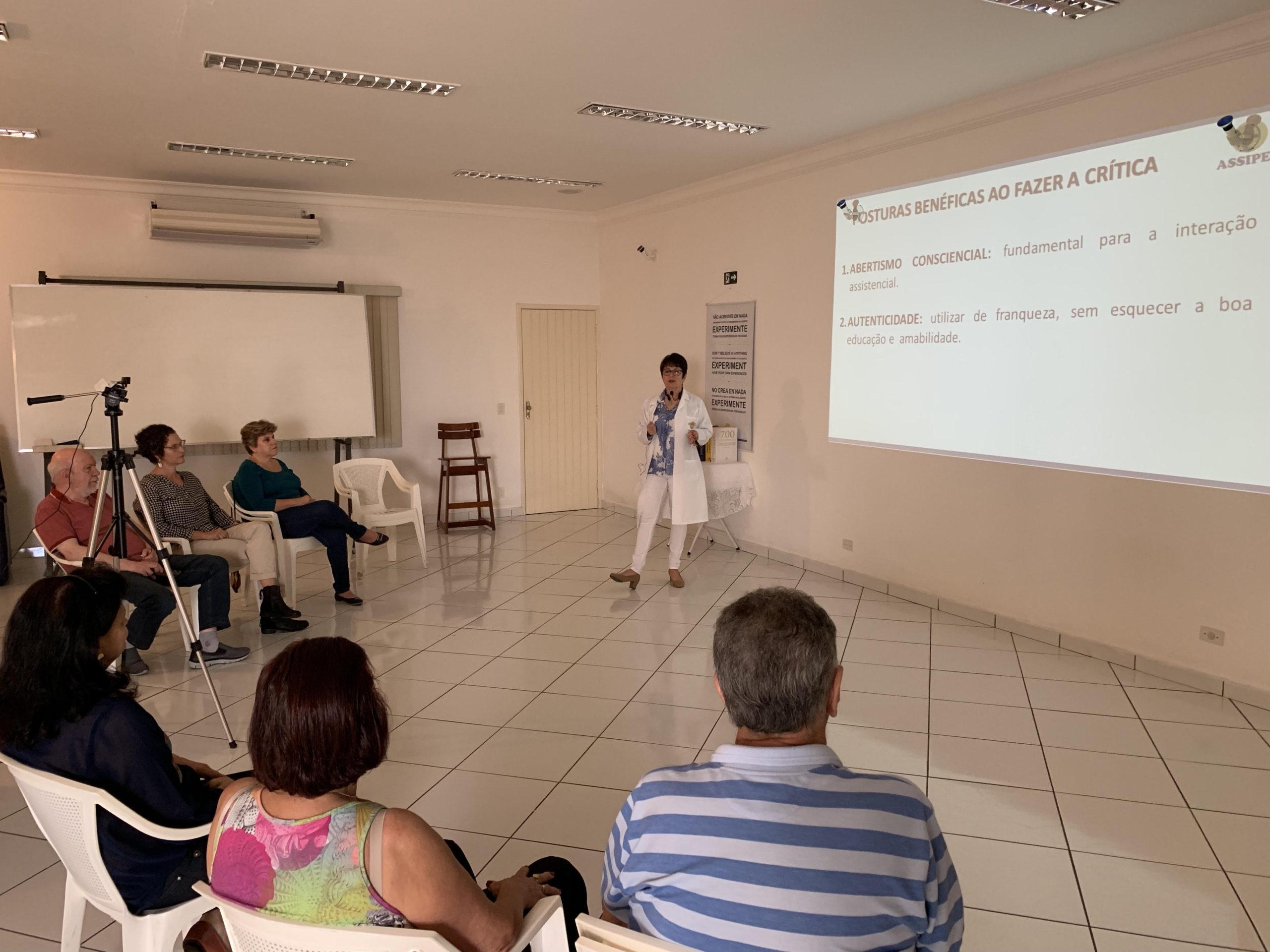 30/06/2019 – PALESTRA O EXERCÍCIO DO DISCERNIMENTO AO FAZER OU RECEBER CRÍTICAS