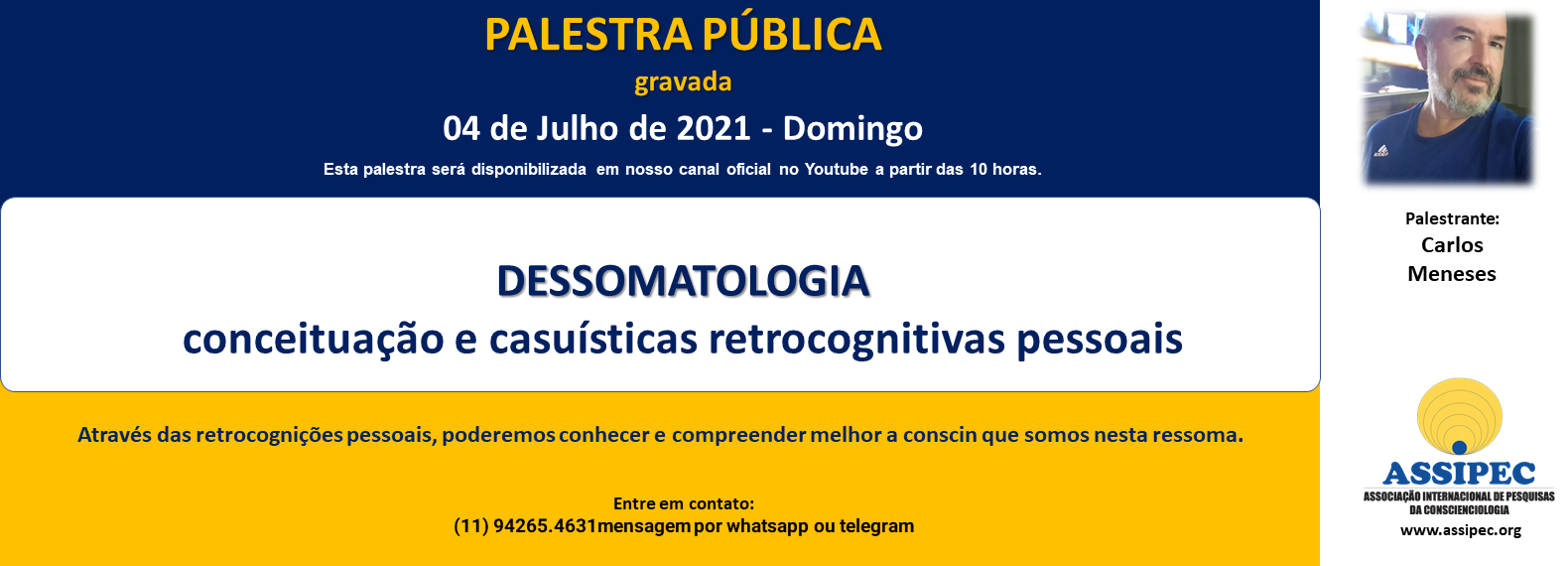 PALESTRA CARLOS - JULHO