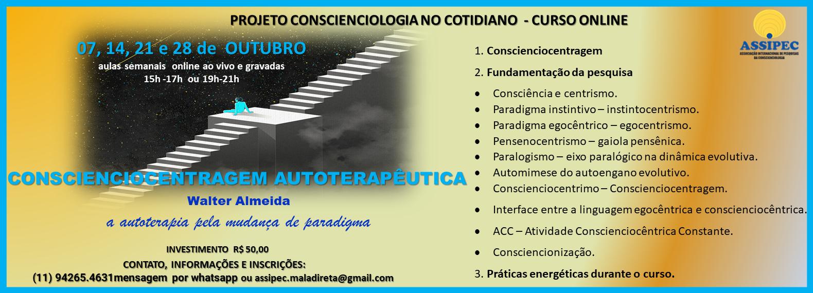 Site - CONSCIENCIOCENTRAGEM AUTOTERAPÊUTICA